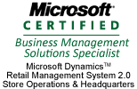 We are Microsoft-certified for RMS HQ and Store Operations